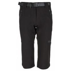 Kilpi Dalarna-W černá dámské tříčtvrteční kalhoty