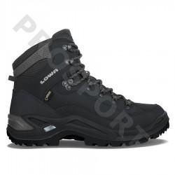 Lowa Renegade GTX Mid deep black pánské nepromokavé kožené trekové boty