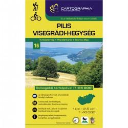 Cartographia Pilis, Vyšehradské vrchy (Pilis, Visegrádi-Hegység) 1:40 000 turistická mapa