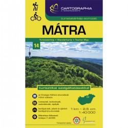 Cartographia Mátra 1:40 000 turistická mapa