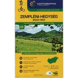 Cartographia  Zemplínské vrchy sever (Zempléni-Hegység) 1:40 000 turistická mapa