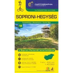 Cartographia Soproni-Hegység 1:40 000 turistická mapa