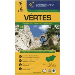 Cartographia Vértes 1:40 000 turistická mapa