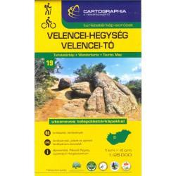 Cartographia Velencei-Hegység, Velencei-Tó 1:40 000 turistická mapa