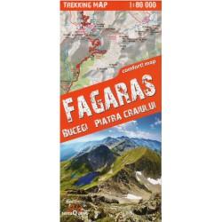 TerraQuest Fagaraš,Bucegi, Piatra Craiului 1:80 000 turistická mapa oblast