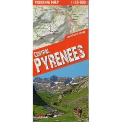 TerraQuest Centrální Pyreneje 1:50 000 turistická mapa oblast