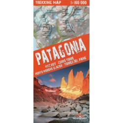 TerraQuest Patagonia (Patagonie) 1:160 000 turistická mapa