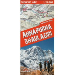 TerraQuest Annapurna, Dhaulagiri  1:110 000 turistická mapa