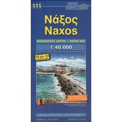 ORAMA 111 Naxos 1:40 000 turistická mapa