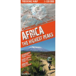 TerraQuest Afrika - nejvyšší vrcholy  1:150 000 turistická mapa1