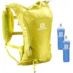 Salomon Agile 6l Set citronelle/sulphur spring C10930 běžecký batoh + 2 ks měkké láhve