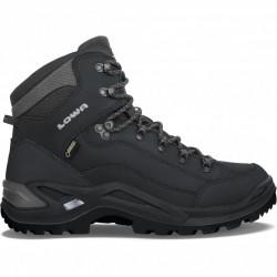 Lowa Renegade GTX Mid Wide deep black pánské nepromokavé kožené trekové boty