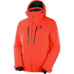 Salomon Icefrost Jkt M cherry tomato C12231 pánská nepromokavá zimní lyžařská bunda (1)