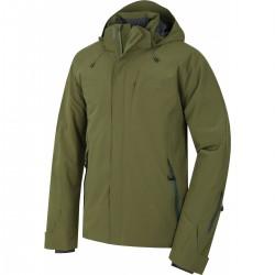 Husky Gopa M tmavě olivová pánská nepromokavá zimní lyžařská bunda