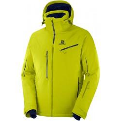 _Salomon Icespeed Jkt M citronelle C12223 pánská nepromokavá zimní lyžařská bunda