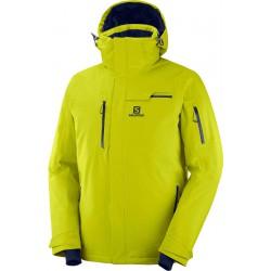 _Salomon Brilliant Jkt M citronelle C11922 pánská nepromokavá zimní lyžařská bunda