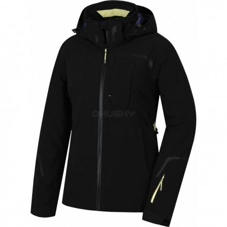 Husky Gerbis L černá dámská nepromokavá zimní lyžařská bunda