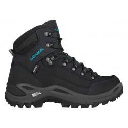Lowa Renegade GTX Mid W asphalt/turquoise dámské nepromokavé kožené trekové boty