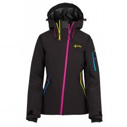 _Kilpi Asimetrix-W černá dámská nepromokavá zimní lyžařská bunda změřeno