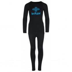 Kilpi Nathaniel-JB černá 2018 dětské termoprádlo set triko dlouhý rukáv + spodky
