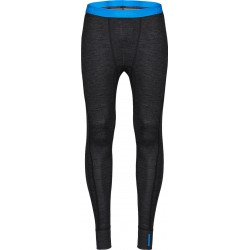 Zajo Bergen Merino Pants black pánské spodky dlouhá nohavice Merino vlna/bambus (2)