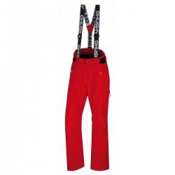 Husky Mitaly L červená dámské nepromokavé zimní lyžařské kalhoty1