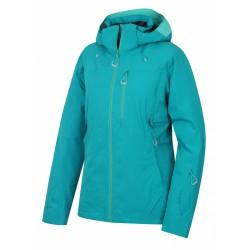 Husky Montry L tyrkysová dámská nepromokavá zimní lyžařská bunda1