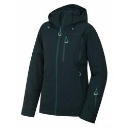 Husky Montry L tm. zelená dámská nepromokavá zimní lyžařská bunda1