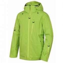 Husky Montry M zelená pánská nepromokavá zimní lyžařská bunda