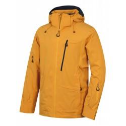Husky Montry M krémově žlutá pánská nepromokavá zimní lyžařská bunda
