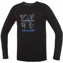 _Direct Alpine Furry Long 1.0 black (activity) pánské triko dlouhý rukáv Merino