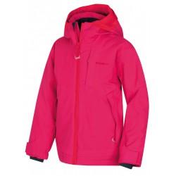 Husky Zisi Kids výrazně růžová dětská nepromokavá zimní lyžařská bunda HuskyTech 15000