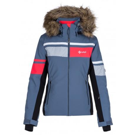 Kilpi Aniela-W modrá dámská zimní lyžařská bunda s vyhřívacím systémem