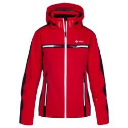 Kilpi Hattori-W červená dámská nepromokavá zimní lyžařská technická bunda1