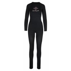 Kilpi Caroline-W černá dámské termoprádlo set triko dlouhý rukáv + spodky1
