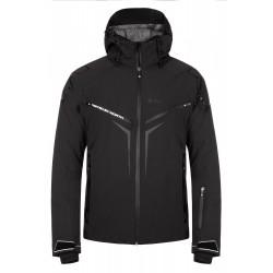 Kilpi Turnau-M černá pánská nepromokavá zimní lyžařská bunda