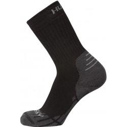 Husky All Wool černá vysoké trekové ponožky Merino vlna1