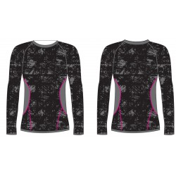 _R2 ATF203A black/grey/pink dámské termo triko dlouhý rukáv změřeno