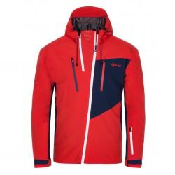 Kilpi Thal-M červená pánská nepromokavá zimní lyžařská bunda