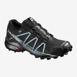 Salomon Speedcross 4 GTX W black/metallic bubble 383187 dámské nepromokavé běžecké boty1