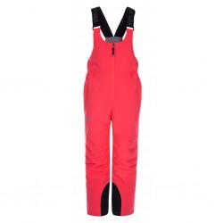Kilpi Charlie-J růžová dětské nepromokavé zimní lyžařské kalhoty s laclem