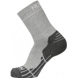 Husky All Wool sv. šedá vysoké trekové ponožky Merino vlna1