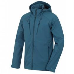 Husky Sahony M tm. modrá pánská softshellová bunda Extend Therm Softshell