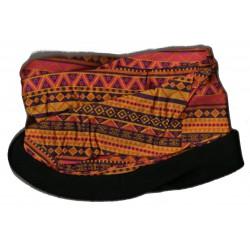 Novia multifunkční šátek fleece 09 oranžový zimní tubus