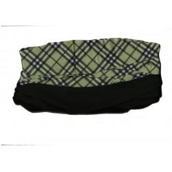 Novia multifunkční šátek fleece 01 zelená kostka zimní tubus