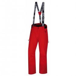 Husky Mitaly M červená pánské nepromokavé zimní lyžařské kalhoty HuskyTech 20000