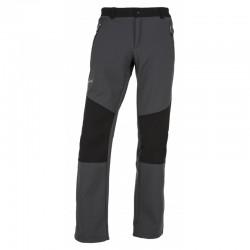 Kilpi Manilou-M tmavě šedá pánské softshellové outdoorové kalhoty Siberium SRC SS 10000