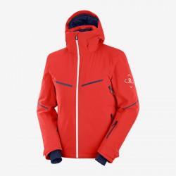 Salomon Brilliant Jacket M goji berry C13995 pánská nepromokavá zimní lyžařská bunda 1