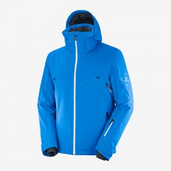 _Salomon Brilliant Jacket M indigo C13993 pánská nepromokavá zimní lyžařská bund změřeno