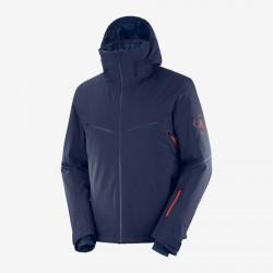 _Salomon Brilliant Jacket M night sky C13991 pánská nepromokavá zimní bunda změřeno